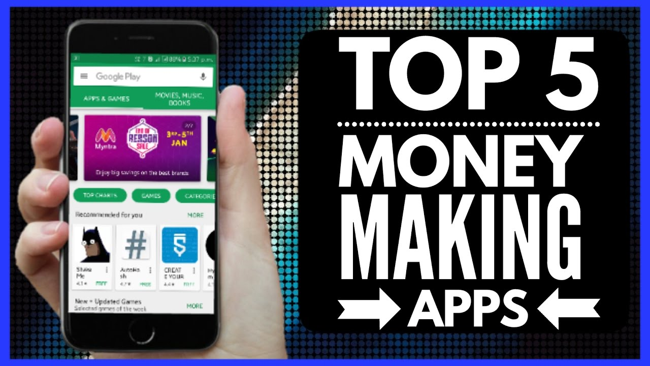 Money Making Apps for Android Phones in India PART-2 List of Top 5 Get Mobile Money Apps In India