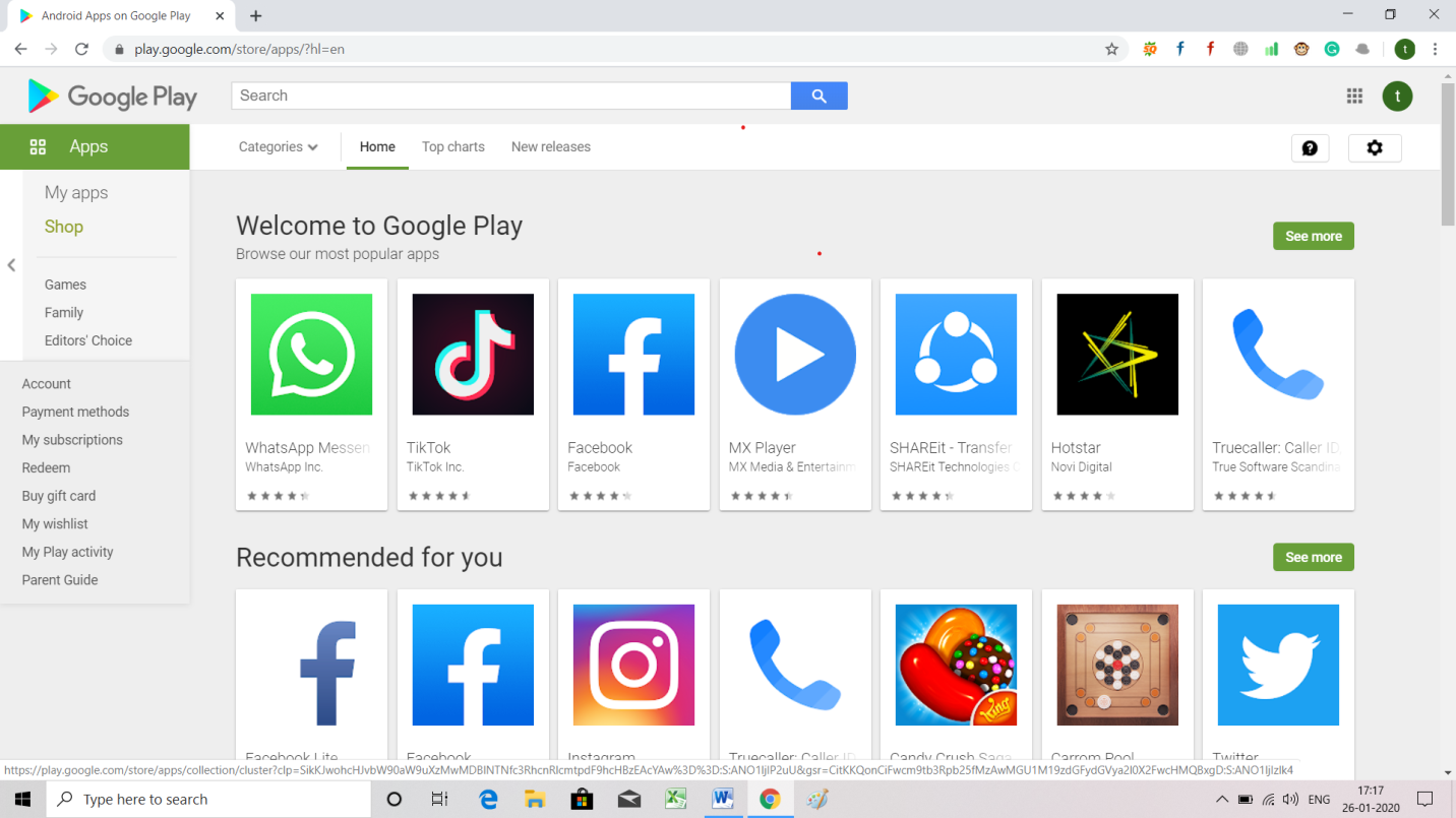 Most Popular Apps for Android play store