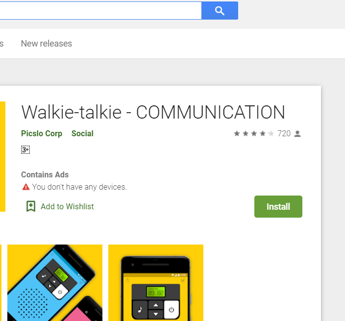 Most Popular Apps for Android \walkitalki