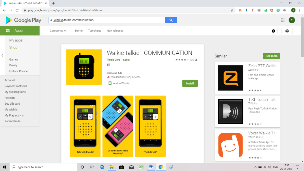 Most Popular Apps for Android walkitalki.png