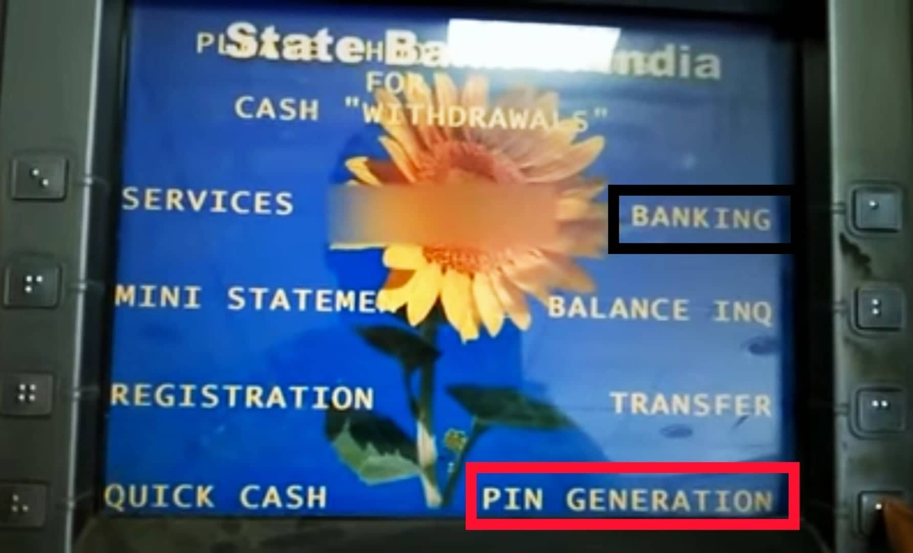 How to change SBI ATM Pin by ATM